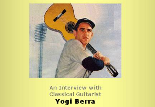 An Interview with Classical Guitarist Yogi Berra