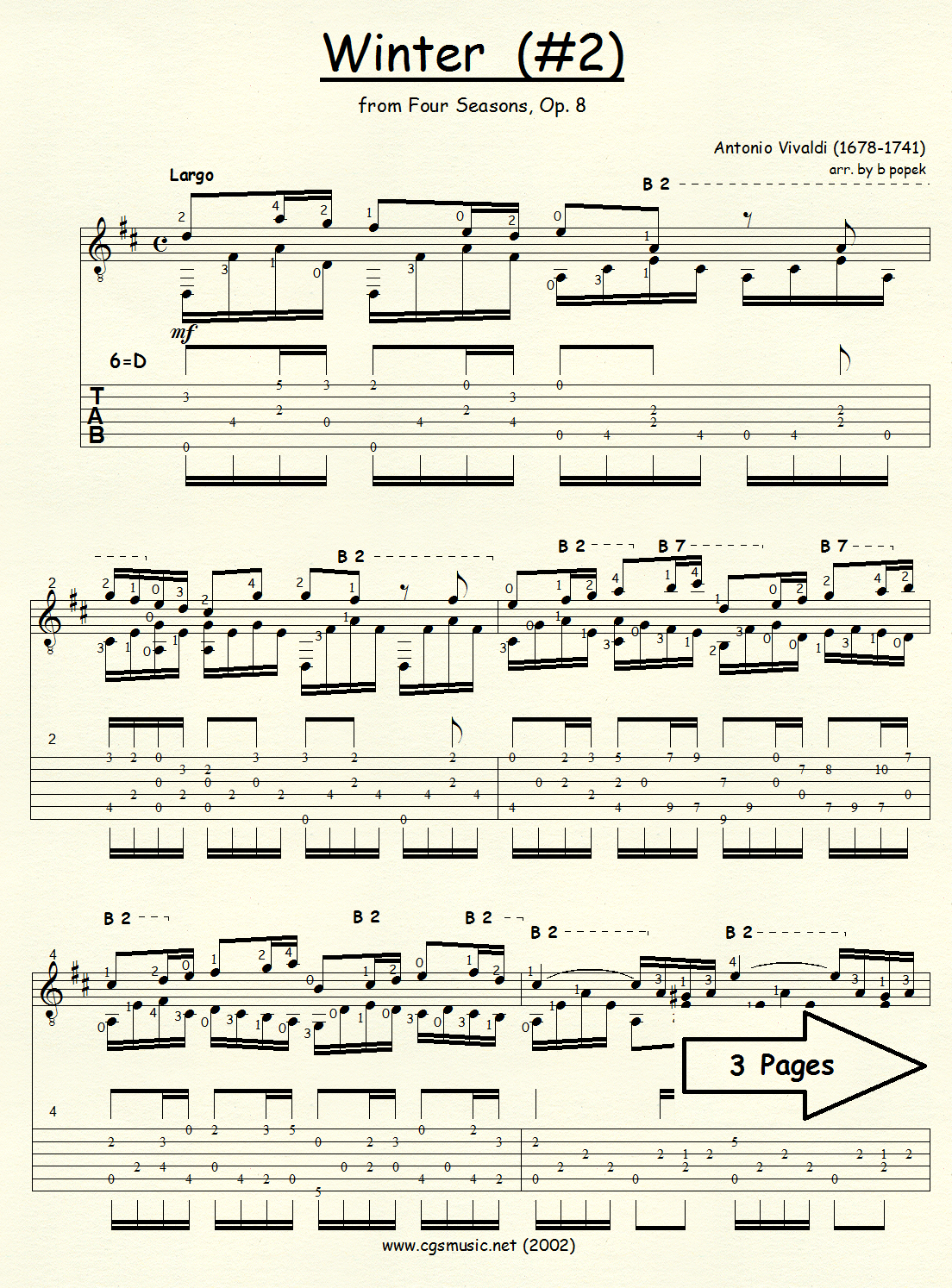 vivaldi four seasons guitar tab pdf